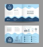 Bifold-Broschüren-Design für Unternehmensunternehmen und Flyer-Design für Unternehmensmarketing vektor