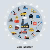Konzept der Bergbauindustrie vektor