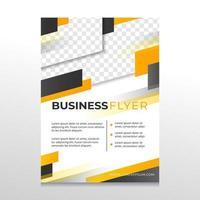 moderner schwarz-gelber Geschäftsflyer vektor