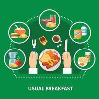 Frühstückswohnungskonzeptvektorillustration vektor