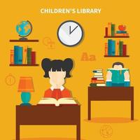 Zusammensetzung der Kinderbibliothek vektor