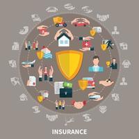 Zusammensetzung der Versicherungsrunde vektor