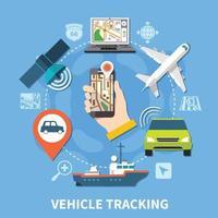 Transport Navigation Runde Zusammensetzung vektor