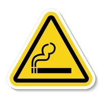 rauchendes Symbolzeichen vektor