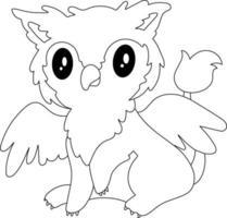 Griffin Kinder Malvorlagen ideal für Anfänger Malbuch vektor