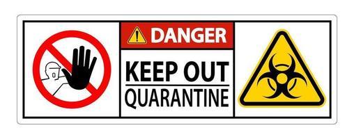 Gefahr Quarantäneschild fernhalten vektor
