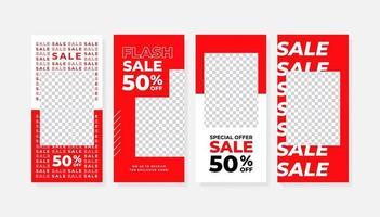 uppsättning berättelser försäljning banner bakgrund. vektor
