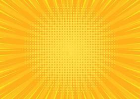 gelber Comic-Hintergrund der Pop-Art. abstrakter Cartoon-Stil Halbton-Zoom-Banner. vektor