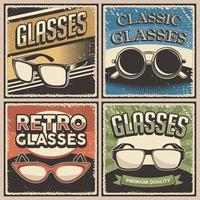 Retro Vintage Illustration Vektorgrafik der Brille fit für Holzplakat oder Beschilderung vektor