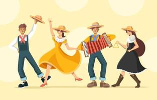 Spaß tanzen auf festa junina vektor