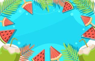 fruchtig frisches Sommeressen vektor