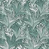 nahtloses grünes Blumenornamentmuster vektor
