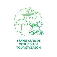 Reisen Sie außerhalb des Hauptkonzepts der Touristensaison vektor