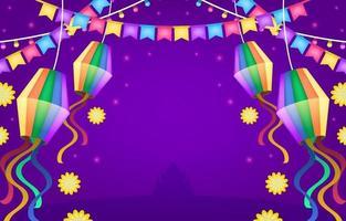 festa junina festlicher hintergrund vektor