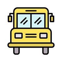 Schulbus-Symbol vektor