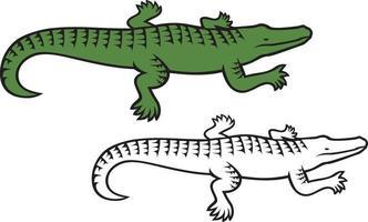 Krokodil - Alligatorsymbol vektor