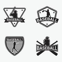 Baseball-Abzeichen-Logo-Design-Vektorschablone vektor