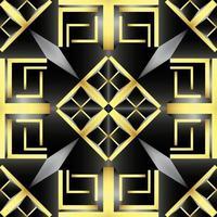 Dies ist eine Vintage Golden Screen Textur mit einem geometrischen Art-Deco-Muster vektor