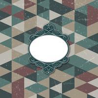 Dekorativer Rahmen auf grunge Hintergrund vektor