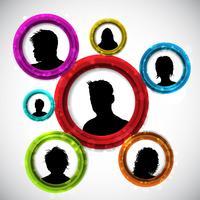 Människor avatars vektor
