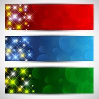 Weihnachten Sternenhimmel Banner vektor