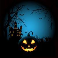 Spöklik Halloween bakgrund vektor