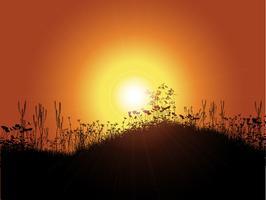 Sonnenuntergang Hintergrund vektor