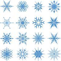 Weihnachtsschneeflocken Hintergrund vektor