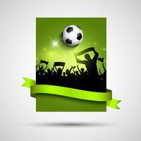 Fußballmassenhintergrund 2105 vektor