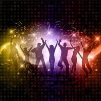 Party folk bakgrund vektor