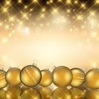 Gyllene julkulor vektor