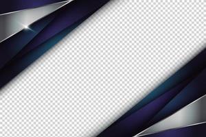 abstrakter metallisch blauer Bandrahmen vektor