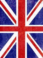 Grunge Union Jack Hintergrund vektor