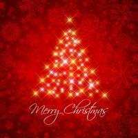 Weihnachtshintergrund mit sternenklarem Baum