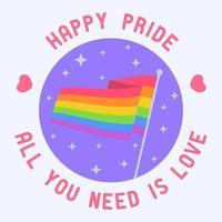 lgbt Plakat Design Homosexuell Stolz lgbtq Ad Divercity Konzept vektor