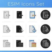 SEO Copywriting Icons eingestellt vektor