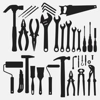 Werkzeuge Sammlung Illustration Vektor-Design-Vorlagen gesetzt vektor