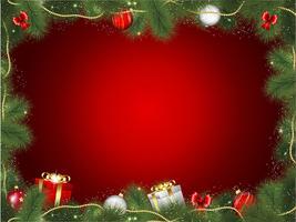 Julgranram vektor