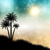 Abstrakter Sommerhintergrund vektor
