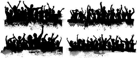 Grunge Menschenmenge Szenen vektor