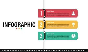 infografisk formgivningsmall med affärsidé vektor