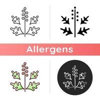 ragweed pollen ikon vektor