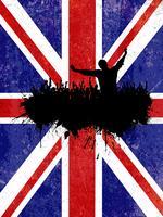 Grunge Party Hintergrund mit Union Jack Flagge vektor