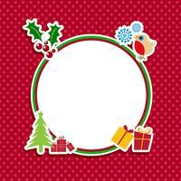 Netter Weihnachtshintergrund vektor
