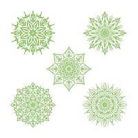 lyx mandala dekorativ bakgrundsuppsättning vektor