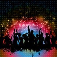 Grunge Party Hintergrund vektor