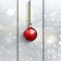 Weihnachtskugel Hintergrund vektor