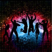 Grunge party bakgrund vektor