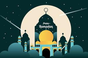 traditionelles Festivalbanner mit islamischer Dekoration vektor