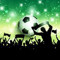Fotbolls- eller fotbollsmassan bakgrund 1305